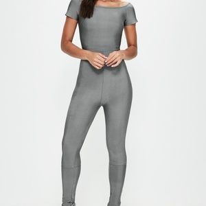 NWT Missguided Gray Bandage Jumpsuit